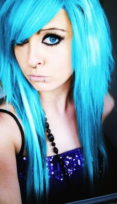 Emo Cheveux Bleus 2 Bonjour Bonjour