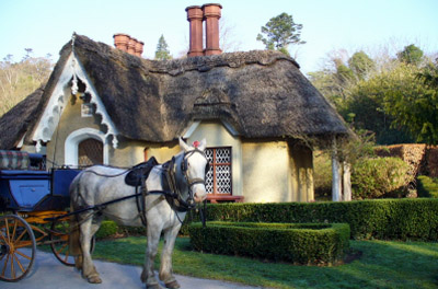 Ireland - Killarney: Cottage with Horse