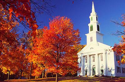 Granby, Massachusetts, during peak autumn foliage season