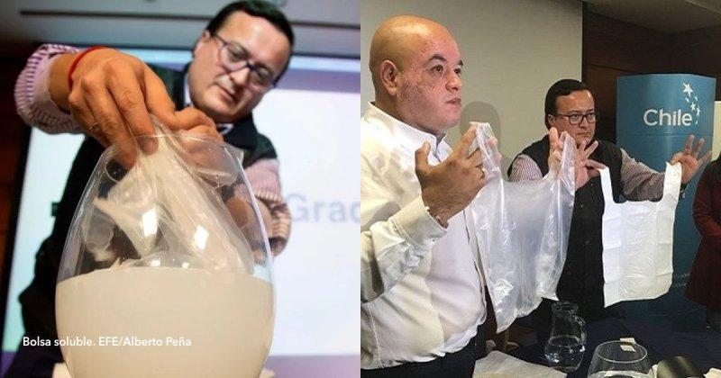 Resultado de imagen de imagenes de empresa chilena bolsas que se disuelven en agua