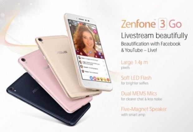 Опубликована информация о смартфоне Asus Zenfone 3 Go