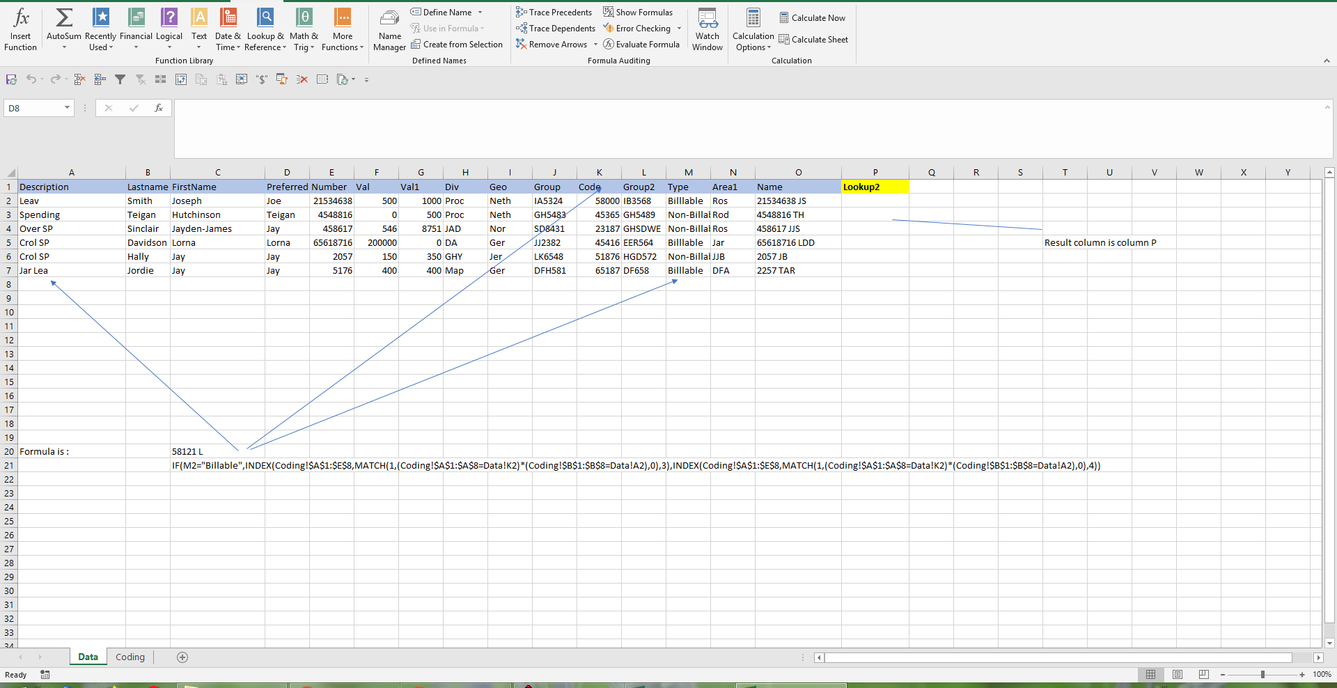 Index And Match Array In Vba