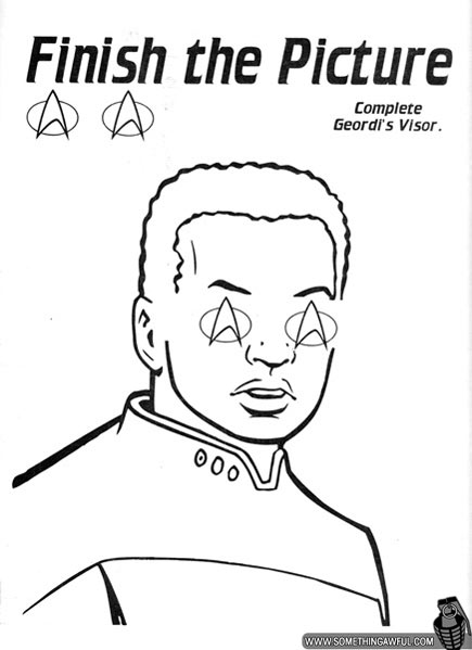 star trek next generation colouring pages