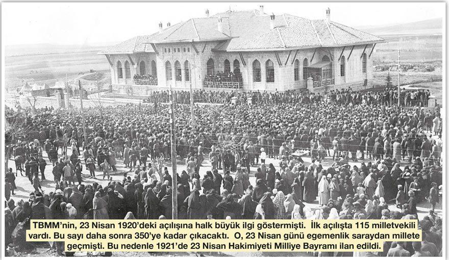 23 Nisan 1920'de Ankara'da açılan TBMM ile ilgili görsel sonucu