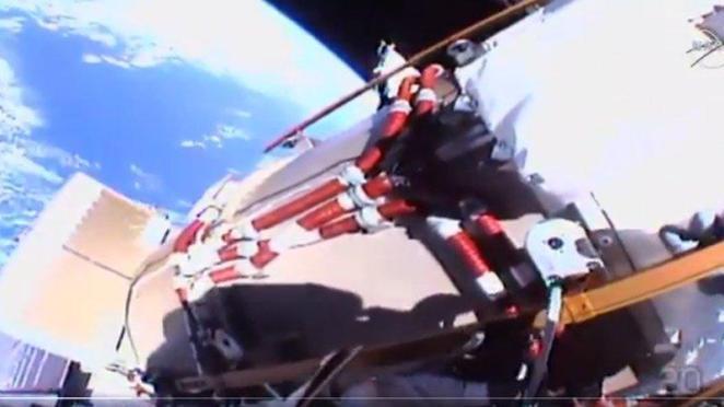 Uzay yürüyüşünden Dünya'yı böyle görüntülediler