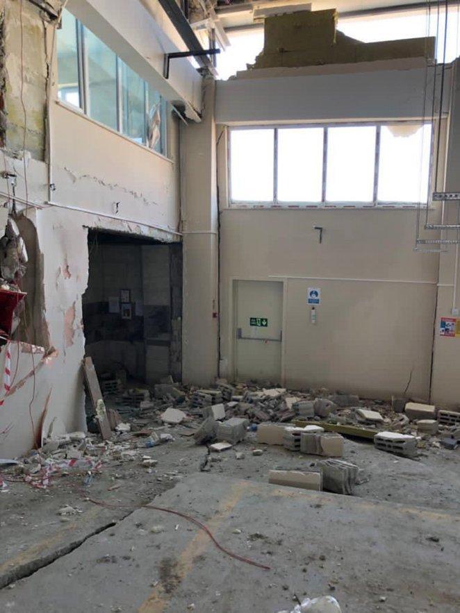 1.5 yıllık binada organize çöküş 14