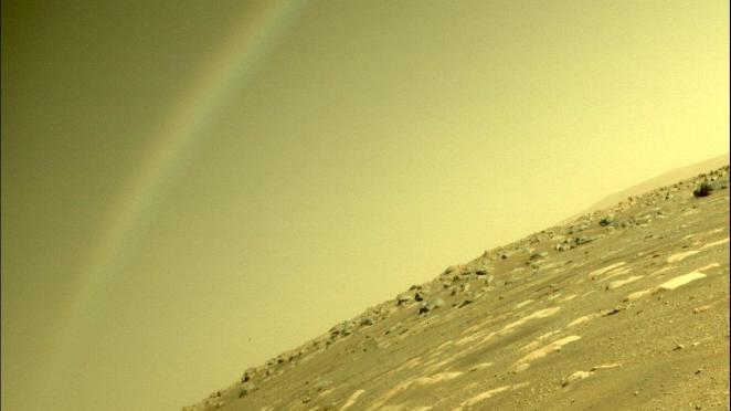 NASA: 'Mars'ta gökkuşağı oluşması mümkün değil'