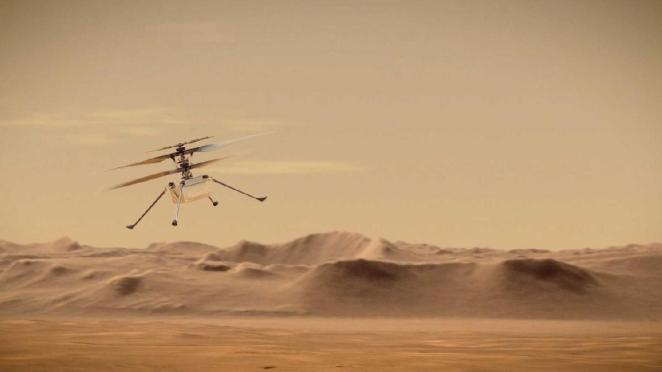 NASA'dan Mars uçuşunda bir ilk daha: Helikopterin sesi yayınlandı