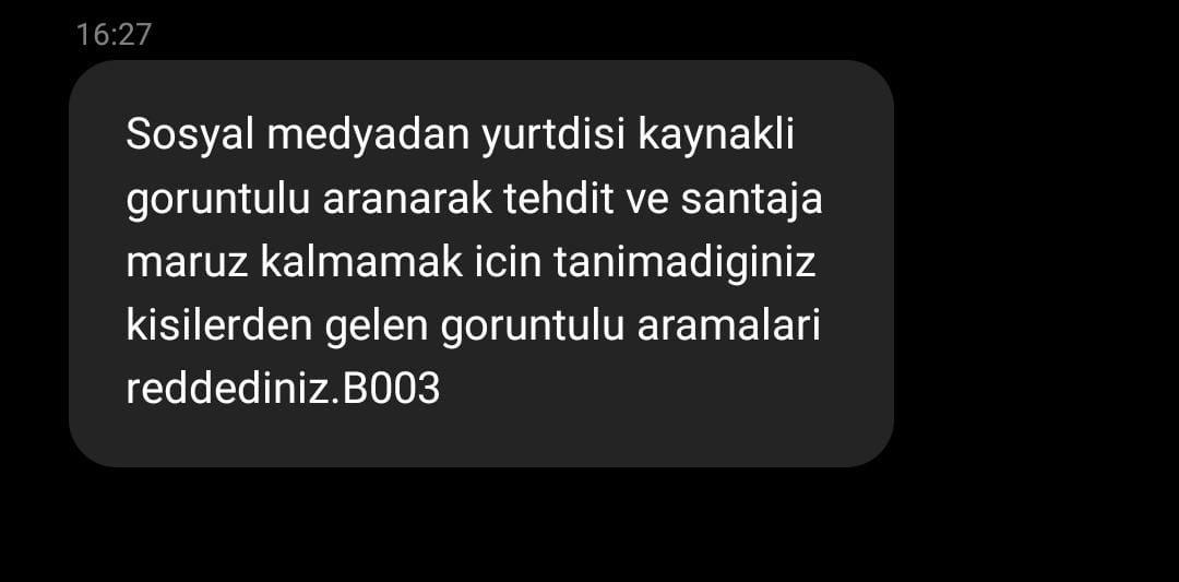 İçişleri Bakanlığı'ndan ilginç uyarı SMS'i