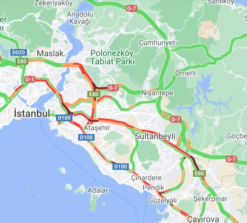İstanbul'da Formula 1 trafiği