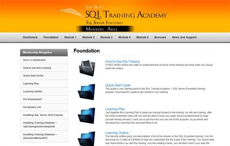 SQL Training Academy's SQL Server Essentials