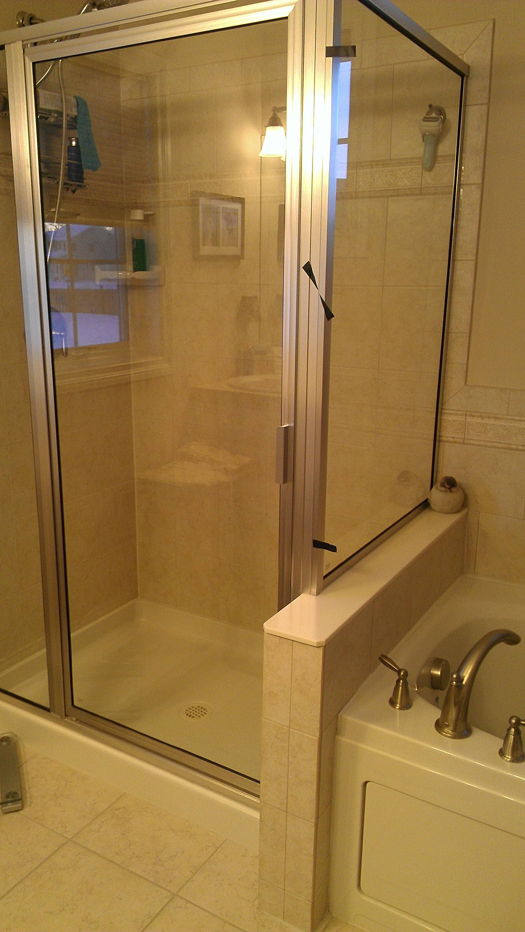 Shower Frame Is Leaking At The Corner Home Improvement