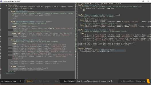 Screenshot of emacs on Windows