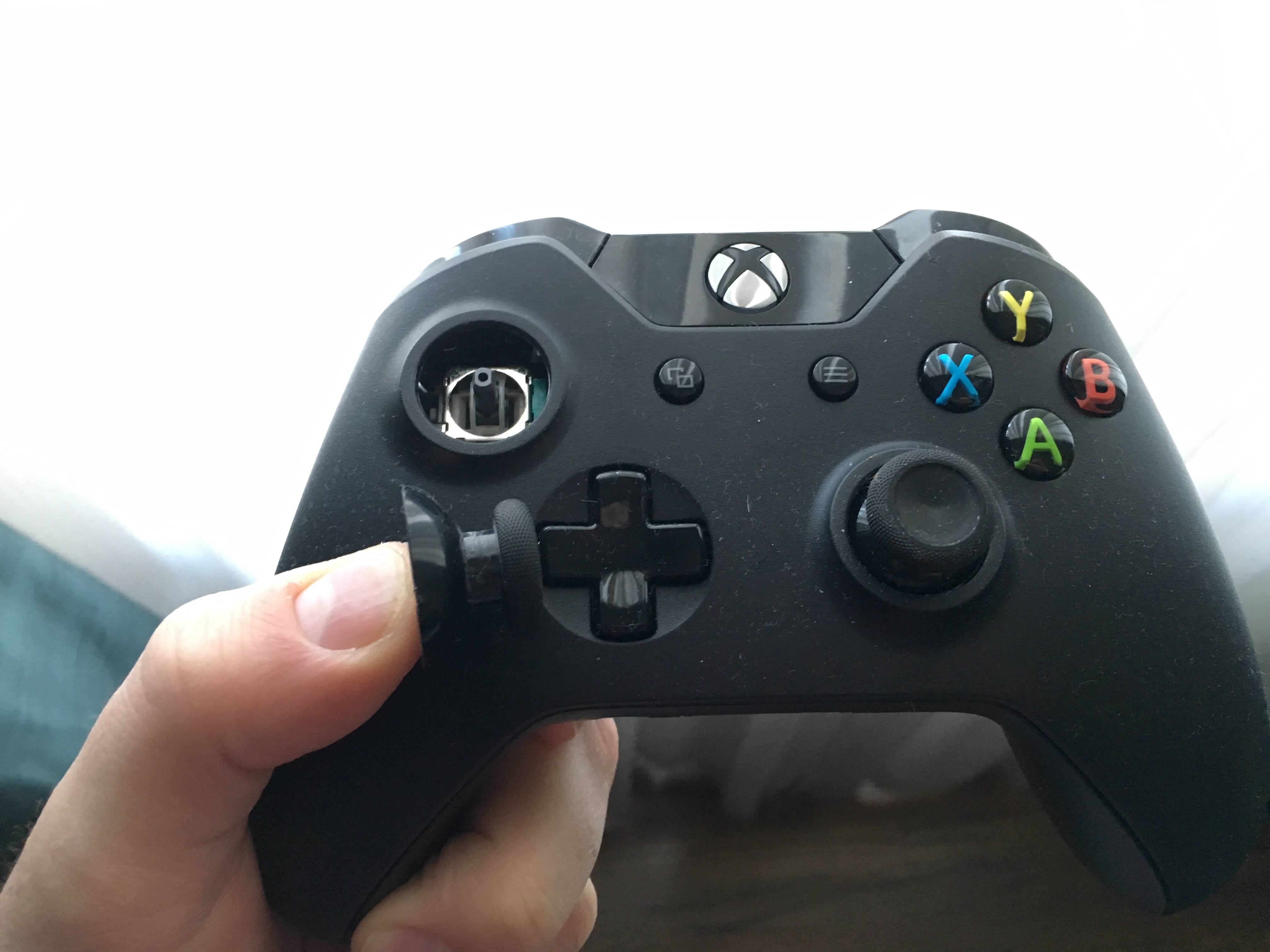 My Xbox One Controllers Left Joystick Popped Out What