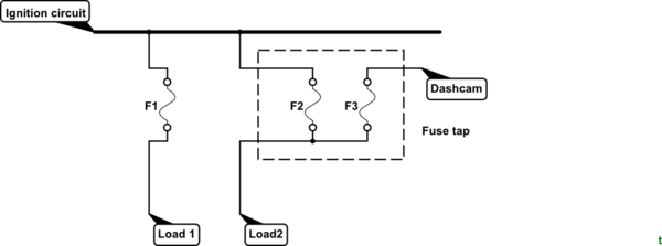 tapping the power from fuse box  description wiring