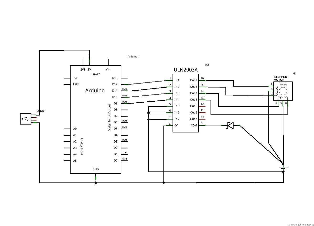 Uln Stepper Motor Driver Circuit