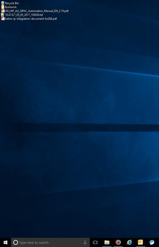 Screenshot of desktop icons in list view