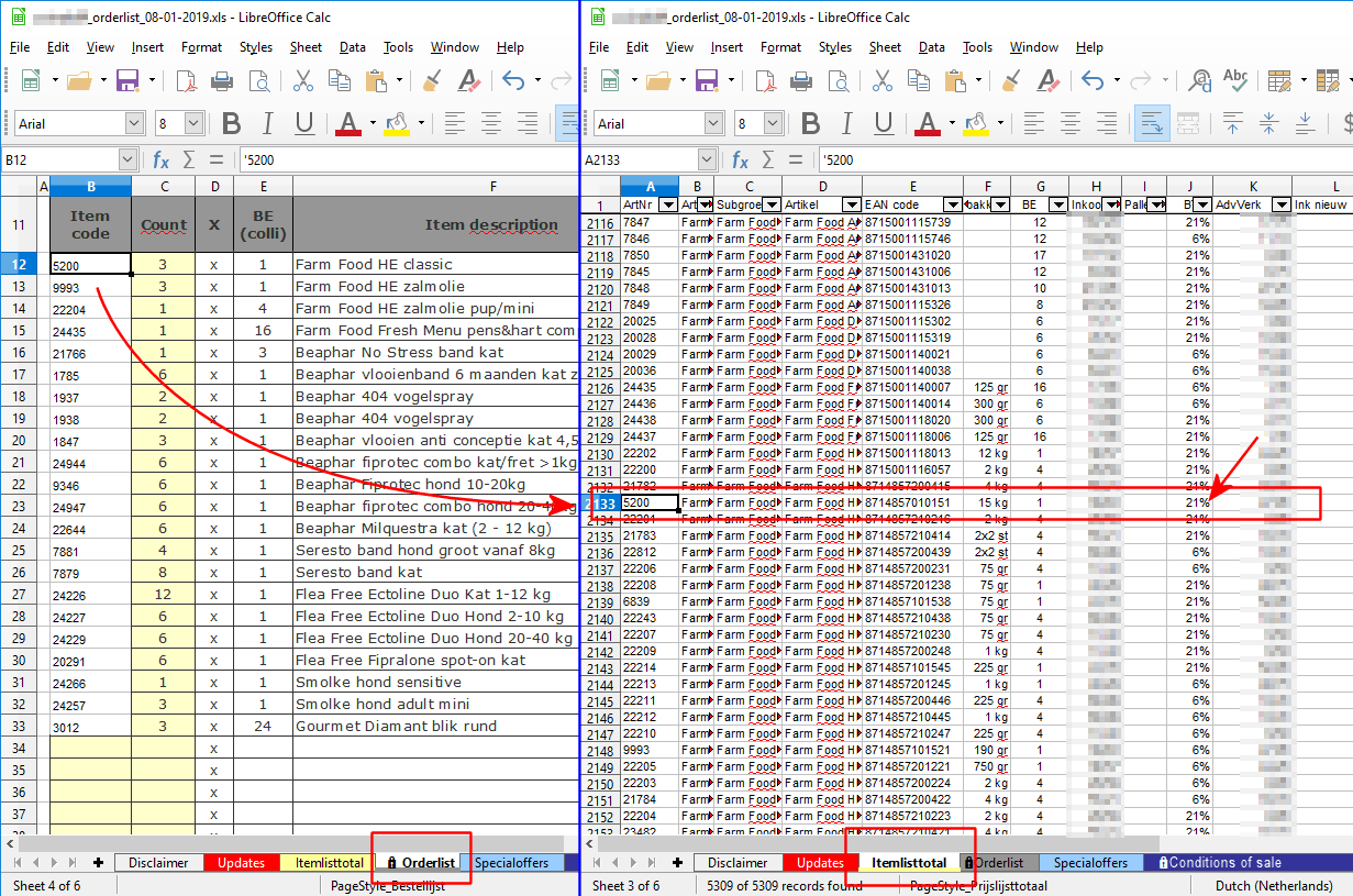 Libreoffice Calc Use Vbscript To Vlookup Values Or
