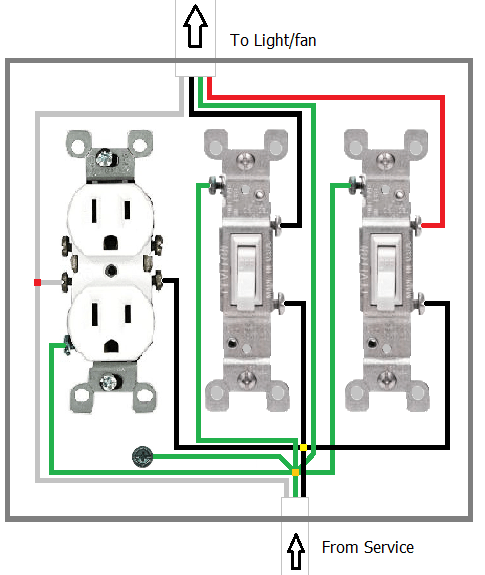 what is the proper way to wire a light switchfan switch and