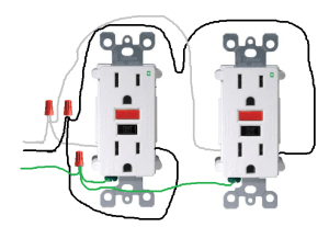 electrical  How do I properly wire GFCI outlets in