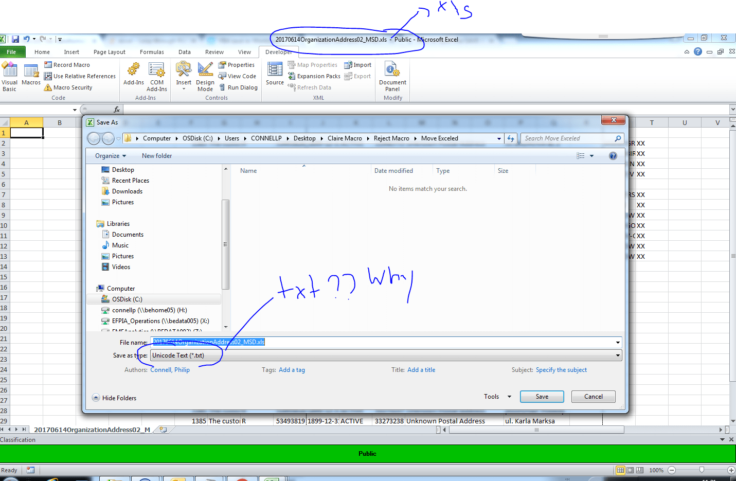 Vba Exp File Transformed To Excel File Not Allowing Code To Work