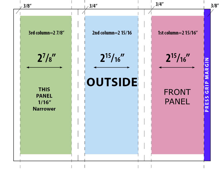 Trifold Brochure Where Do The Fold Lines Go Graphic