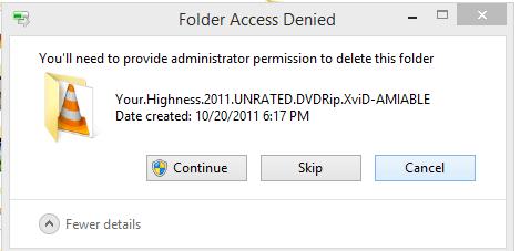 Folder Access Denied
