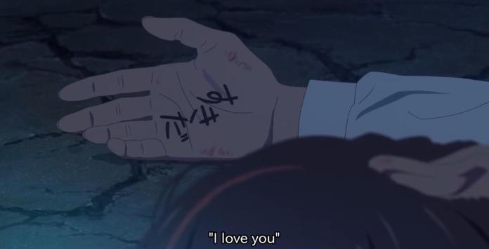 Why didn't Taki write his name on Mitsuha's hand? - Anime & Manga Stack Exchange