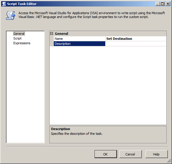 Script Task General