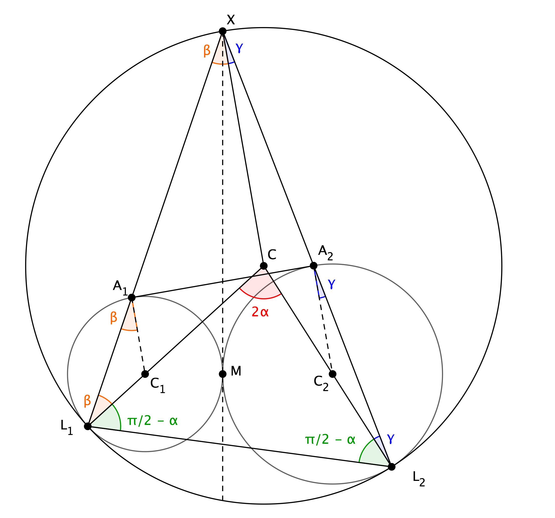 Circle And Tangents Geometry Proof Problem