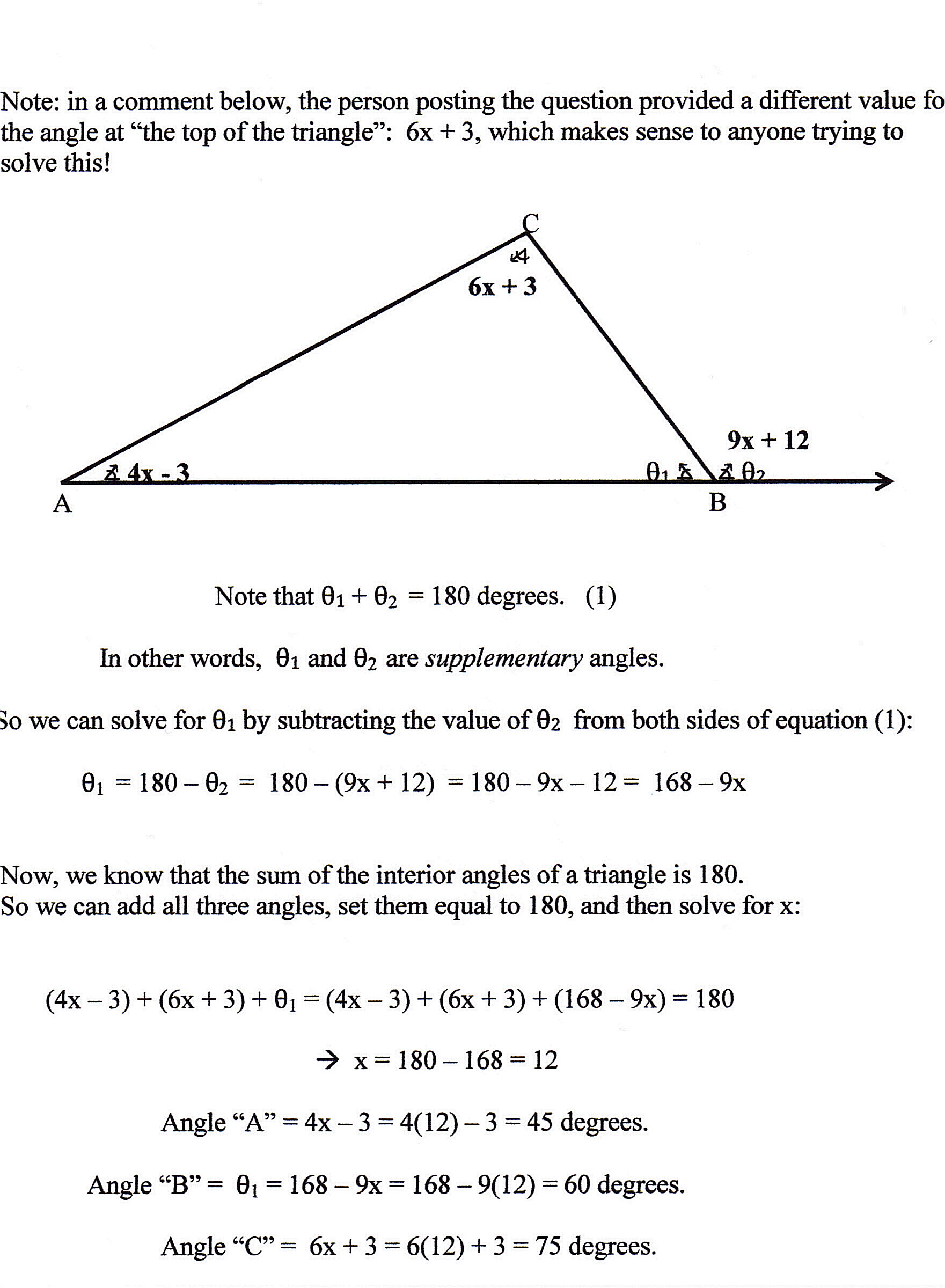 Finding Missing Angles Worksheet Answers