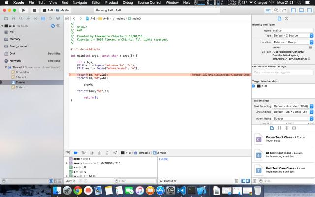 XCode Issue when compile C code - Stack Overflow