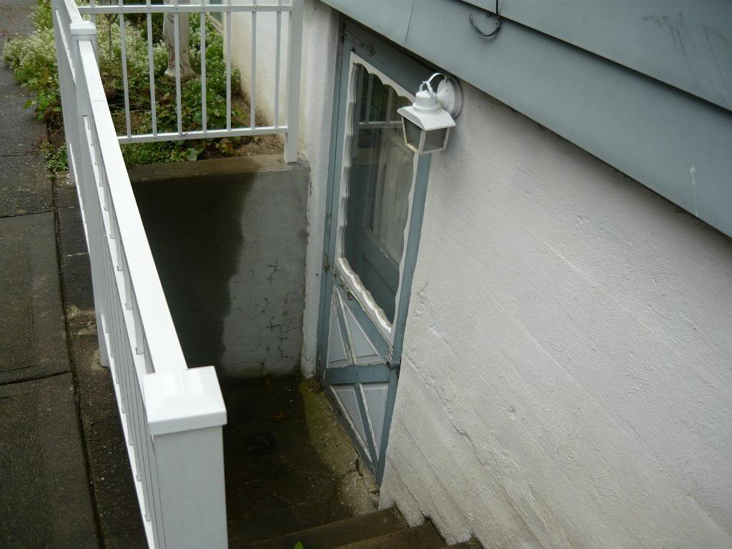 Drain Preventing CloggingFlooding At Bottom Of Exterior