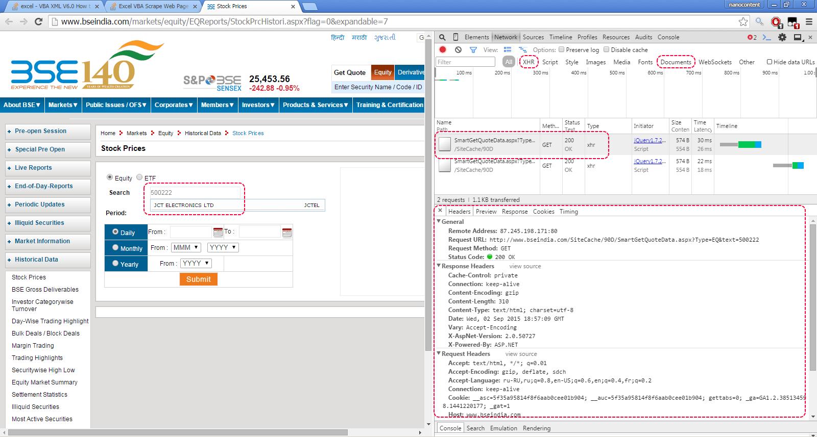 Excel Vba Scweb Page