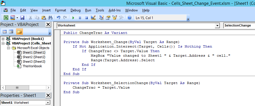 Excel Detecting And Keeping Track Of Value Changes In