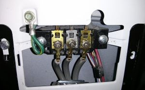 electrical  Where does the ground wire go in a 3prong dryer cord configuration?  Home