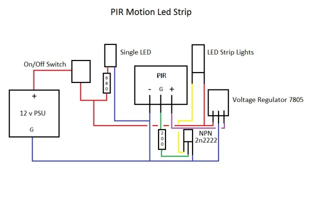 12v led strip lights controlledpir want to add ldr to