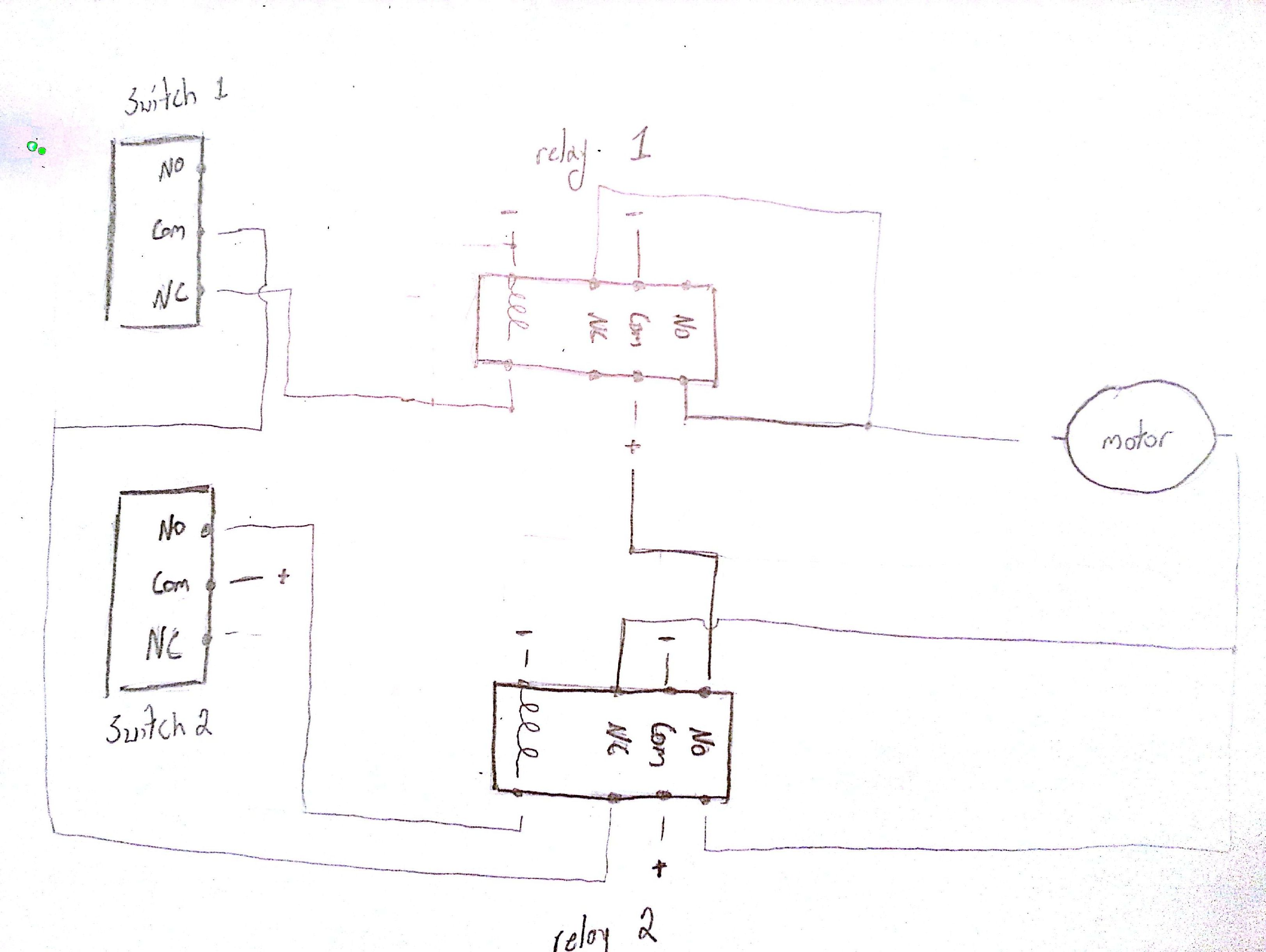 Limit Switches To Control Motor Direction