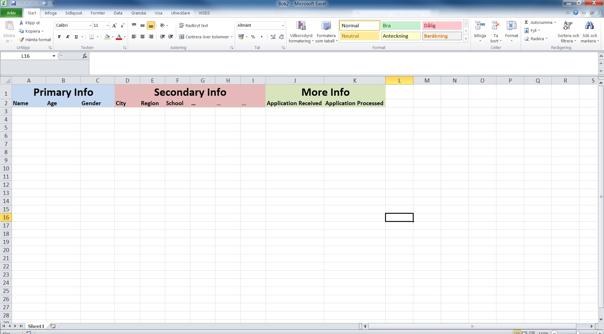 Splitting An Excel Spreadsheet Into Different Worksheets