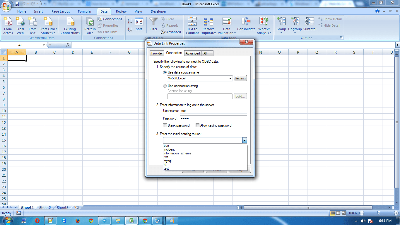 How To Connect Ms Excel With Mysql