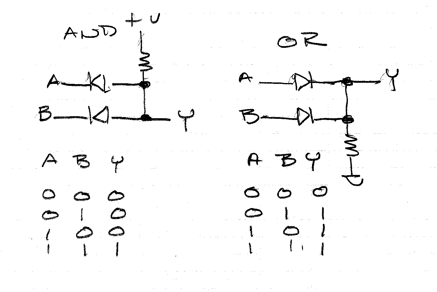Electrical Circuit Of And Gate