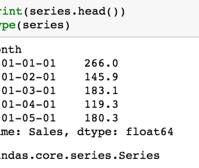 This Is Also A Dataset Contain 2 Dimension But It Is Series Type Convert Dat