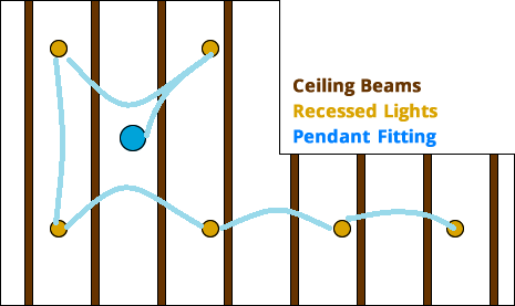 fitting recessed lighting without
