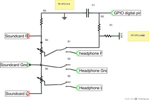 How can I use the RPi GPIO to make a headphone sensing