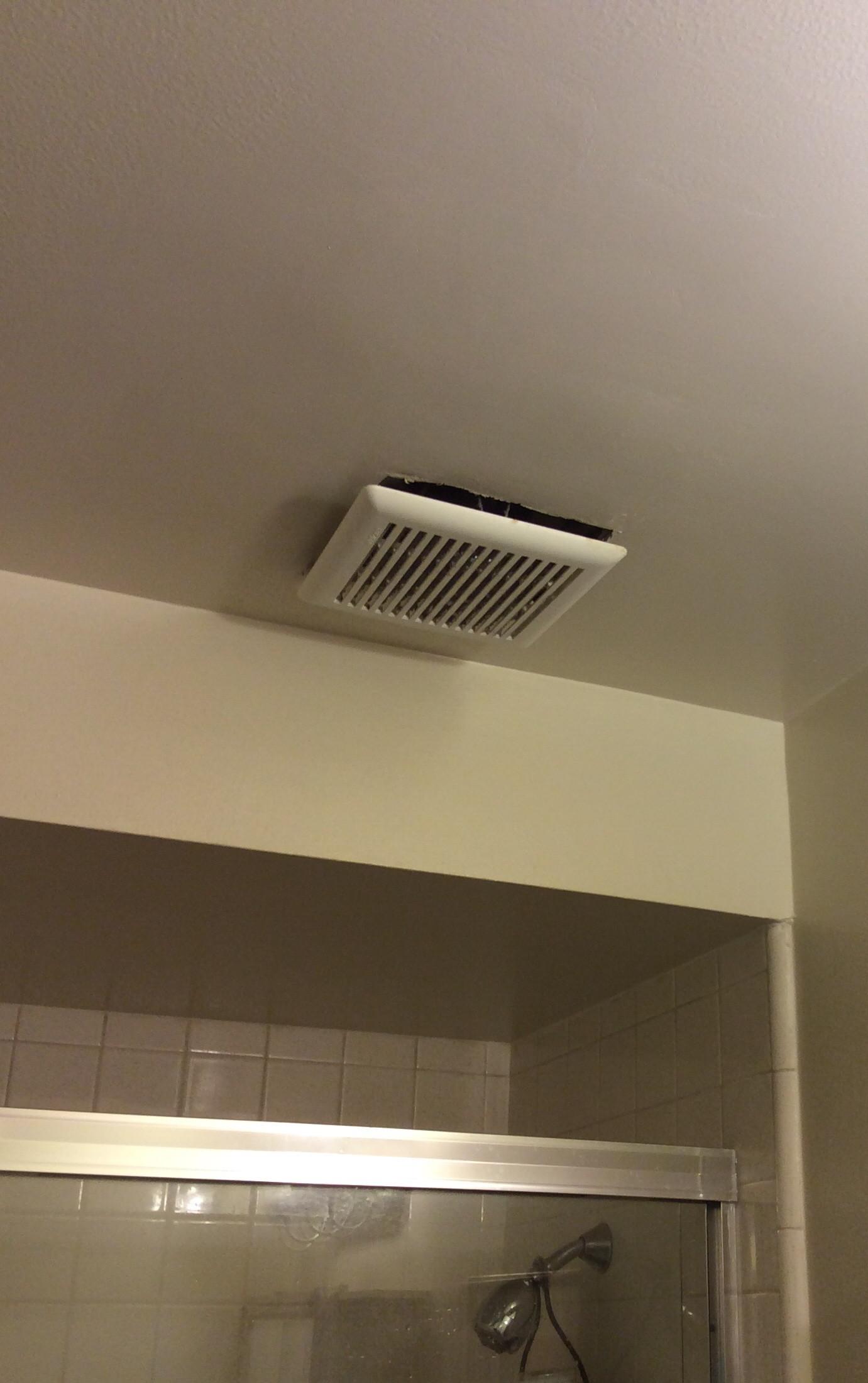 exhaust fan cover to hang below