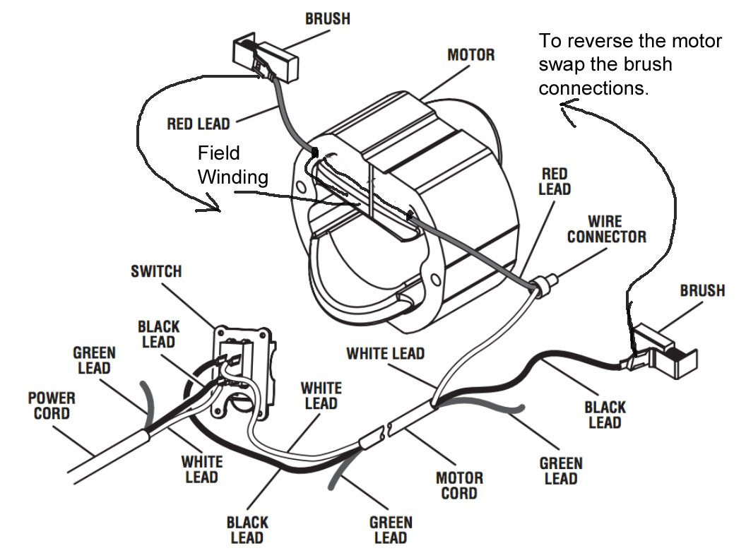 Reversing direction of an ac universal motor electrical rh electronics stackexchange universal wiper motor switch wiring diagram universal wiper motor
