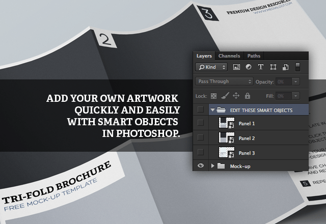 Adobe Photoshop Is There A Template To Display A Tri Fold Or Page Turn For A Portfolio