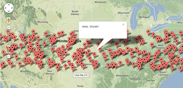 javascript   Google Maps JS API v3   Simple Multiple Marker Example     Google Maps API V3 11 with Multiple Markers