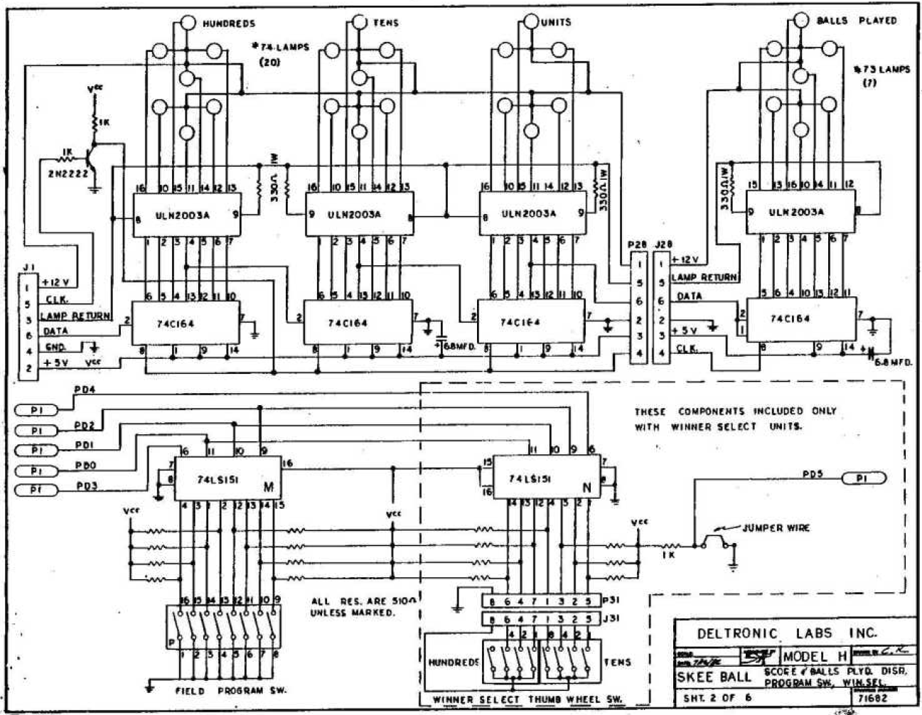 Schematic Explanation Of Display Unit 7 Segment Led Latch