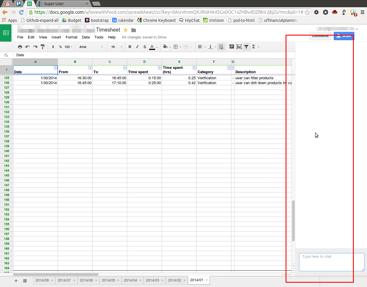 How I Hide The Chat Window In Drive Spreadsheet